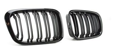 BMW E46 4dr saloon touring compact gloss black kidney grilles twin double slat