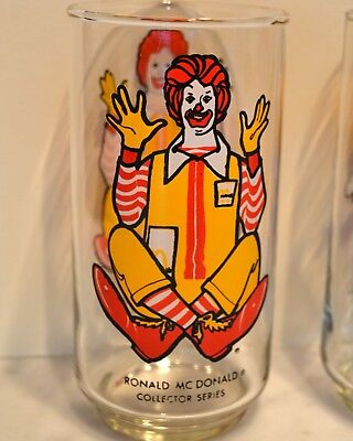 "Vintage ""Ronald McDonald"" 1976 Collector Series - Character Drinking Glass 1976"