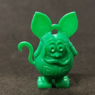 Vintage green RAT FINK CHARM with ring hole, no eye color Ed Roth figure