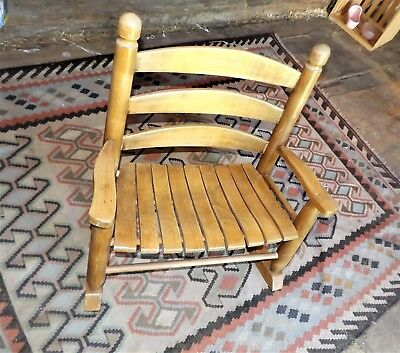 Unusual Vintage Childs Rocker, Extra Wide for XXL or Twins