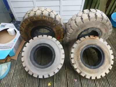 forklift tyres.Set  of 4.Unused.Make of tyres are continental,and rota