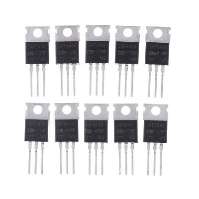10PCS IRF540N IRF540 TO-220 N-Channel 33A 100V Power Mosfet CS