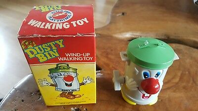 Vintage 321 Dusty Bin Wind Up Toy 1981 Mint In Box Peter Pan Playthings