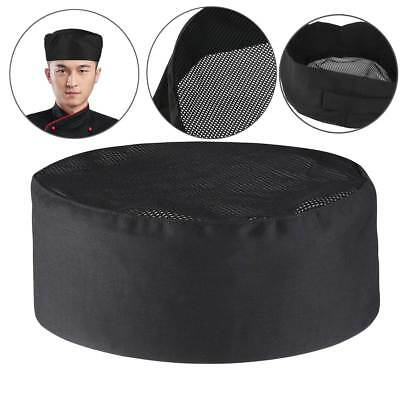 Pro Breathable Mesh Top Skull Cap Catering Chefs Hat w/Adjustable Strap