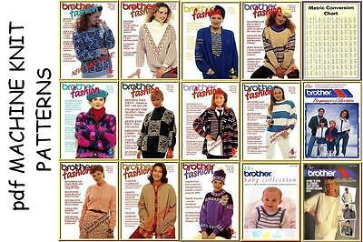 Brother Fashion issues 1-11 Beginners Babies & Collection machine knitting CD