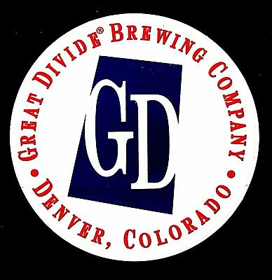Great Divide Brewing Company GD brewery sticker - not a beer label AZ