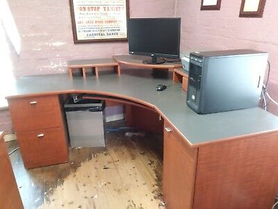 Used office furniture job lot all to match good condition and nice quality.