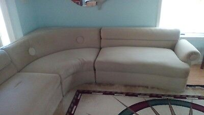 1950 Vintage Mid Century Modern Sectional Sofa Couch beige  USED NEEDS WORK