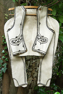 GREEK ANTIQUE AUTHENTIC TRADITIONAL MPOURAZANA THESSALY MALE WAIST circa 1930 !!