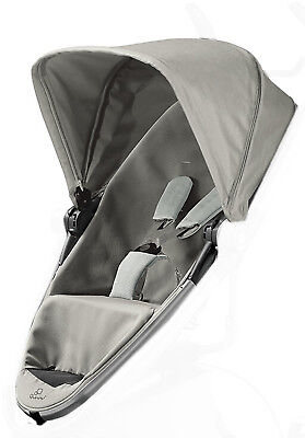 New Quinny zapp Xtra 2.0 complete seat unit silver Grey Gravel NEW
