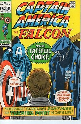 Marvel Comics : Captain America 139,  Cents Copy, Uk Only