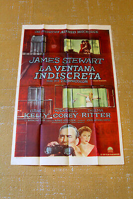 Rear Window Original 1954 Argentine Movie Poster La Ventana