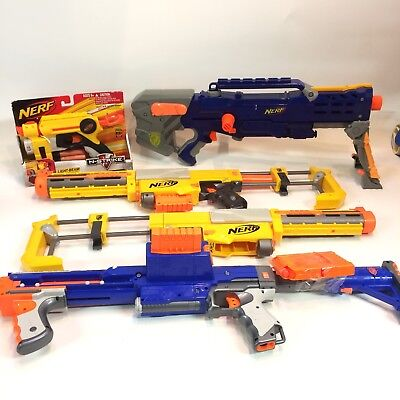 Nerf Gun Lot of 5 N Strike Rifles Longshot Recon CS-6 Raider CS-35 Nite Finder