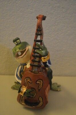 Blue Sky Clayworks - Heather Goldminc - Frog Playing String Bass