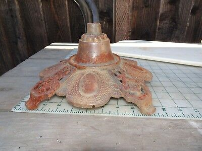 Antique Vintage Cast Iron Old Heavy Tall 4 Feet Lamp Base Lamp Part Steampunk