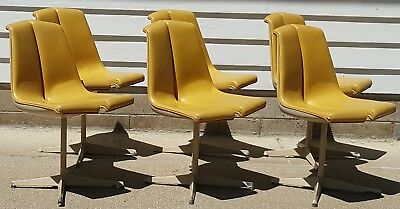 Set of 6 Richard Schultz Stacking Dining Chairs for Knoll I48 Mid Century Modern
