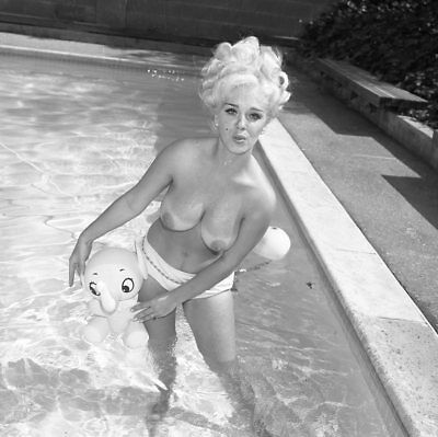 1960s Ron Vogel Negative, busty nude blonde pin-up girl Kitty Mason, t202044