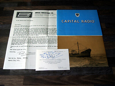 Pirate Radio Capital Radio (Offshore Station) 70s Info Pack Book Pic & Rate Card