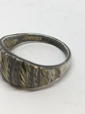 SZ 6 Sterling Silver Etched Ring 2.61g (33-5)