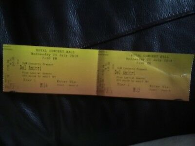 Del Amitri Tickets.x 2 Royal Concert Hall Nottingham Wednesday 25th July 7.30pm