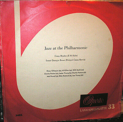 Jazz at the Philharmonic - .Dizzy Gillespie,Will Smith - uva. - 10 inch LP