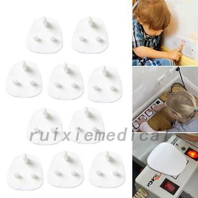 10pcs Mains Electrical Plug Socket Safety Protector Cover Insert Child Baby Safe