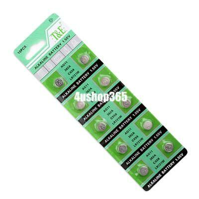 10 x 1.55v button coin cell watch battery batteries ag11 362 sr721sw lr721 rw310