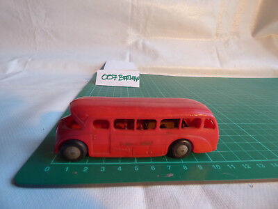 VINTAGE TRI ANG MINIC TRANSPORT BUS RED PLASTIC TOY  FRICTION  00 Gauge