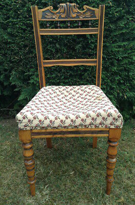 Antique Victorian  carved hall / bedroom / dining chair