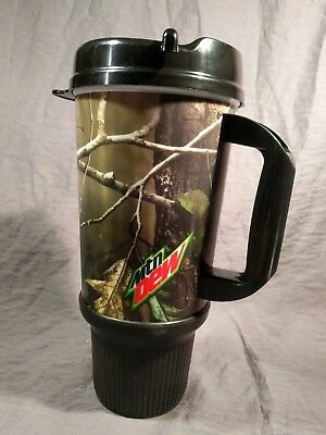 Mtn Dew 32oz Refill Mug Realtree camouflage Whirley Drink Works NEW!
