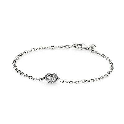 Authentic Pandora Pave Heart Chain Bracelet