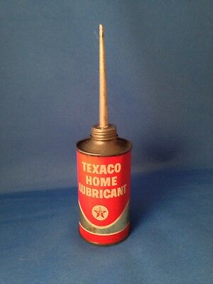 TEXACO HOME LUBRICANT Oil Can star logo 3oz size with tall spout Vintage / empty