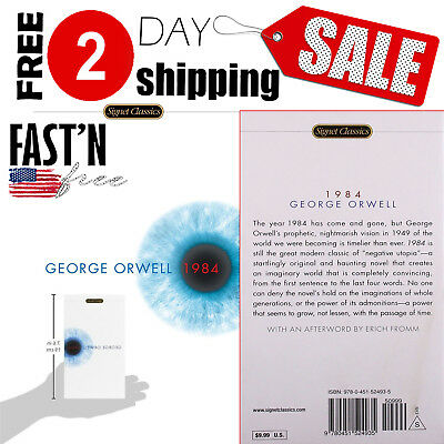 1984 by George Orwell Mass Mark Paperback FREE SHIPPING & Book Original AND NEW
