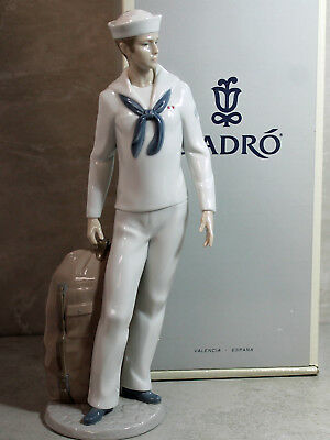 Lladro Figurine, 6654 On Sore Leave, Navy Man,