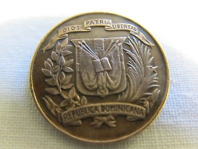 Dominican Republic -1942 -1 Centavo - Brown Beauty with Great Detail.
