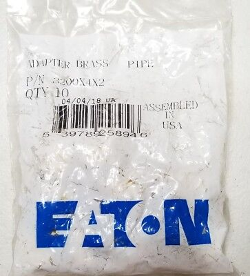 """Eaton Weatherhead Brass Pipe Adapter 3200X4X2 1/4"""" F.p. 1/8"""" M.p. (Pack Of 10)"""