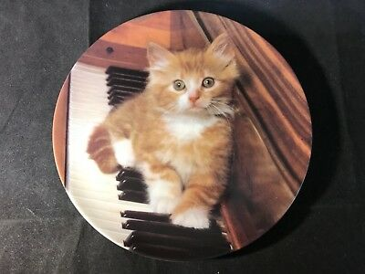 "The Crestley Collection ""Kitten On The Keys"" Collector Plate #10447A 1993"