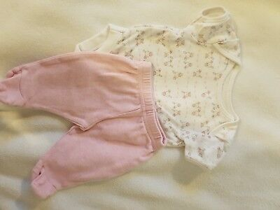Mothercare Tiny Baby Girl Outfit - Vest And Leggins Set