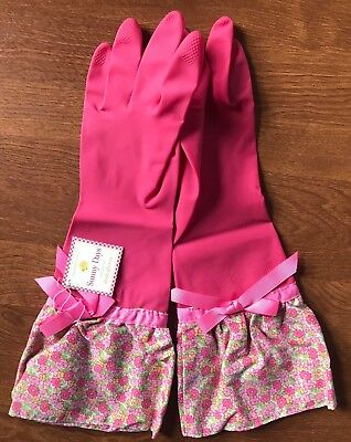 Nwt! Sunny Days Dish Gloves Pretty Pink Floral by Cupcakes & Cartwheels