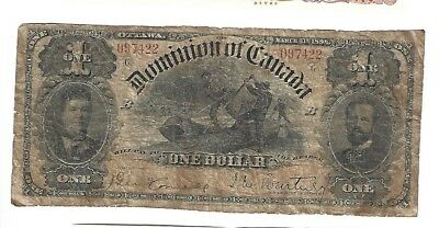 1898 Dominion of Canada $1 #7422