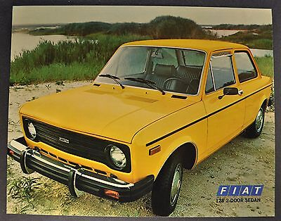 1978 Fiat 128 2-Door Sedan Sales Brochure Sheet Excellent Original 78