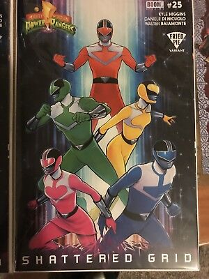 Mighty Morphin Power Rangers #25 BOOM! Fried Pie Variant Shattered Grid MMPR
