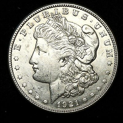 1921 S ~**ABOUT UNCIRCULATED AU**~ Silver Morgan Dollar Rare US Old Coin! #H27