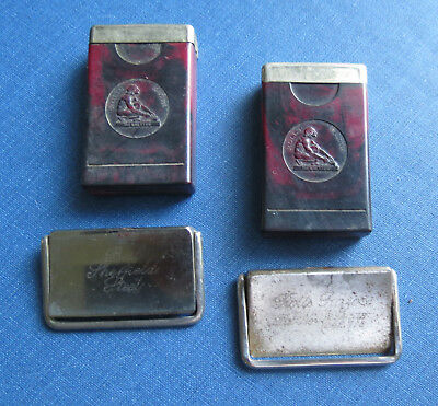 2 ROLLS RAZOR IMPERIAL BLADES with CHERRY BAKELITE CASES - ENGLAND