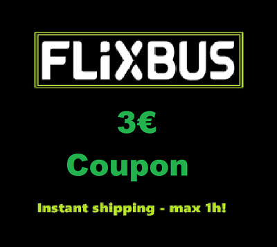 ➤4x3€ Coupon FlixBus - Shipping in 1h! - Buono Sconto Autobus Discount