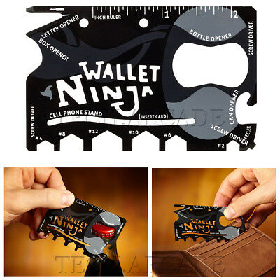 Wallet Ninja 18 in 1 Credit Card Pocket Screwdriver Bottle Opener Gift Gadget