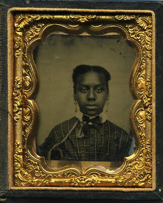 1861? Teen Girl Born Free Or House Slave Civil War Time African American Tintype