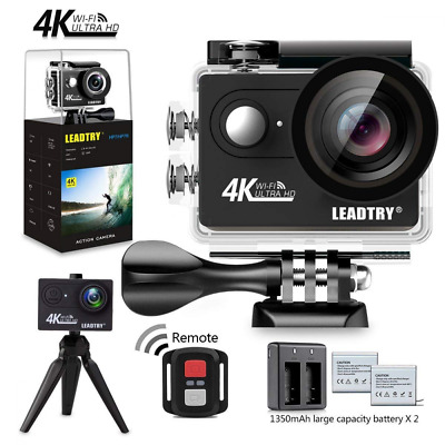 Full 4K HD Action Camera Wifi Mini 12MP Underwater Photography 100Ft Waterproof