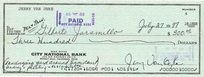 Jerry Van Dyke Signed Check