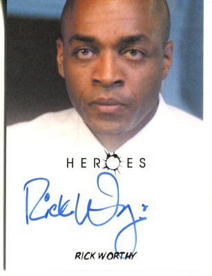 HEROES actor RICK WORTHY  autograph HAND SIGNED 1243